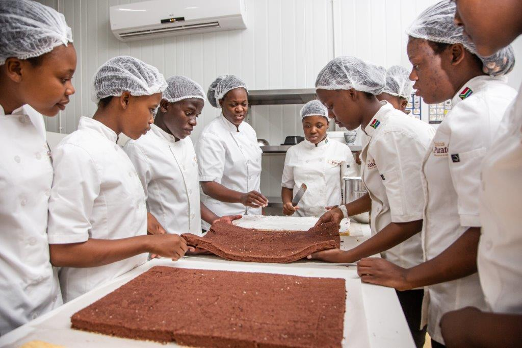 Training in our Bakery School South Africa